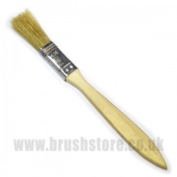 "¹/₂"" Glassfibre Resin Brush with Wooden Handle"