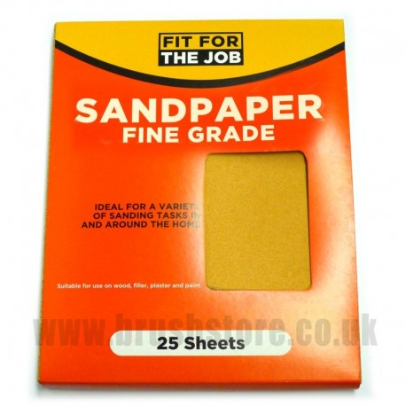 Trade Quality Glasspaper 120 Super Fine Grit