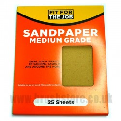 Trade Quality Glasspaper 80 Medium Fine Grit