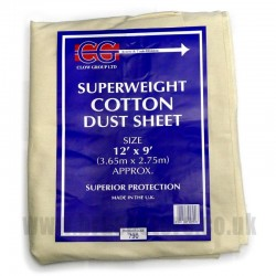 12' x 9' Heavy Cotton Dust Sheet