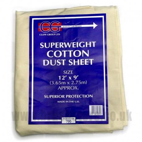 12' x 9' Heavy Cotton Dust Sheet