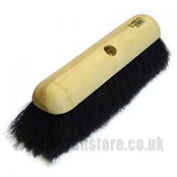"12"" Pure Black Bristle Broom Head"