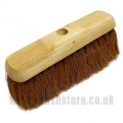 "11"" Natural Coco Fibre Broom Head"