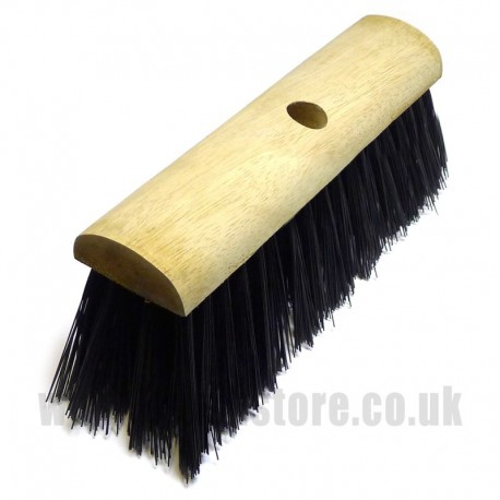 "13"" Black Polypropylene Broom Head"