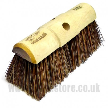 "13"" African Bass Fibre Broom Head"