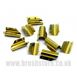 Pack of 10 Brass End Clips