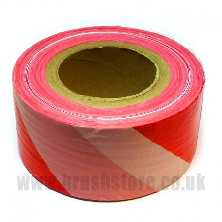 Red & White Safety Barrier Tape 70mm x 500m