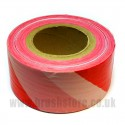 Red & White Safety Barrier Tape 70mm x 50m