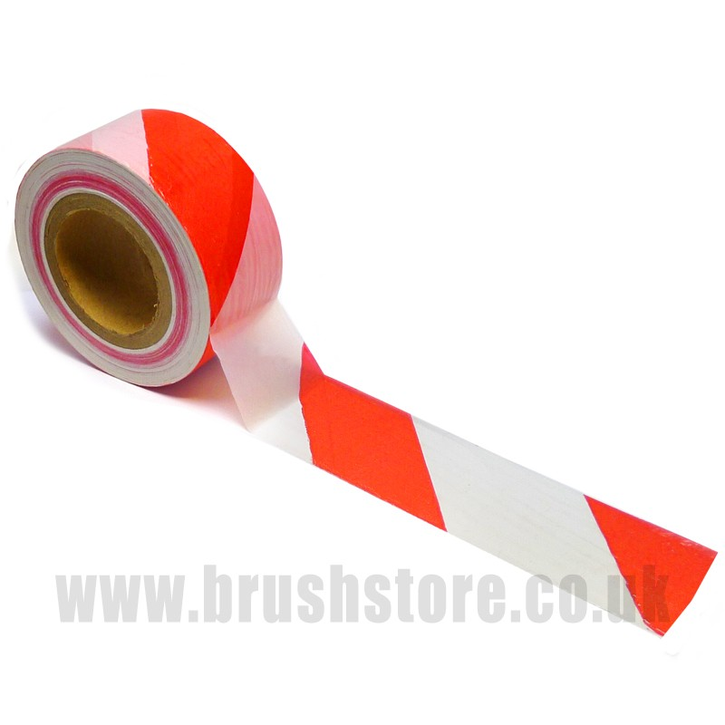 Red Amp White Safety Barrier Tape 70mm X 50m Brushstore