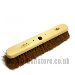 "18"" Soft Natural Coco Fibre Platform Broom"