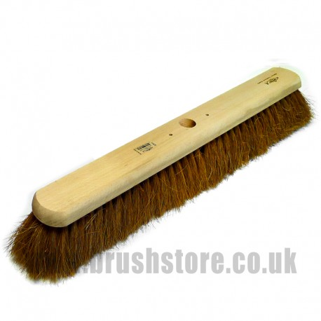 "24"" Soft Natural Coco Fibre Platform Broom"