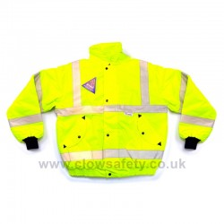 Hi-Visibility Bomber Jacket - Yellow