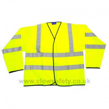 Hi-Visibility Sleeved Polyester Waistcoat
